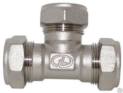 Тройник труба-труба-труба 20-20-20 никель Lavita