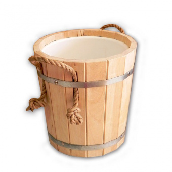 Запарник банный 10 л (с пластиковой вставкой)