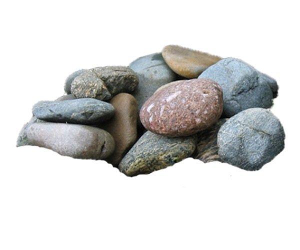 Камни для бани Микс шлифованный Яшма,Кварц,Жадеит (15кг)