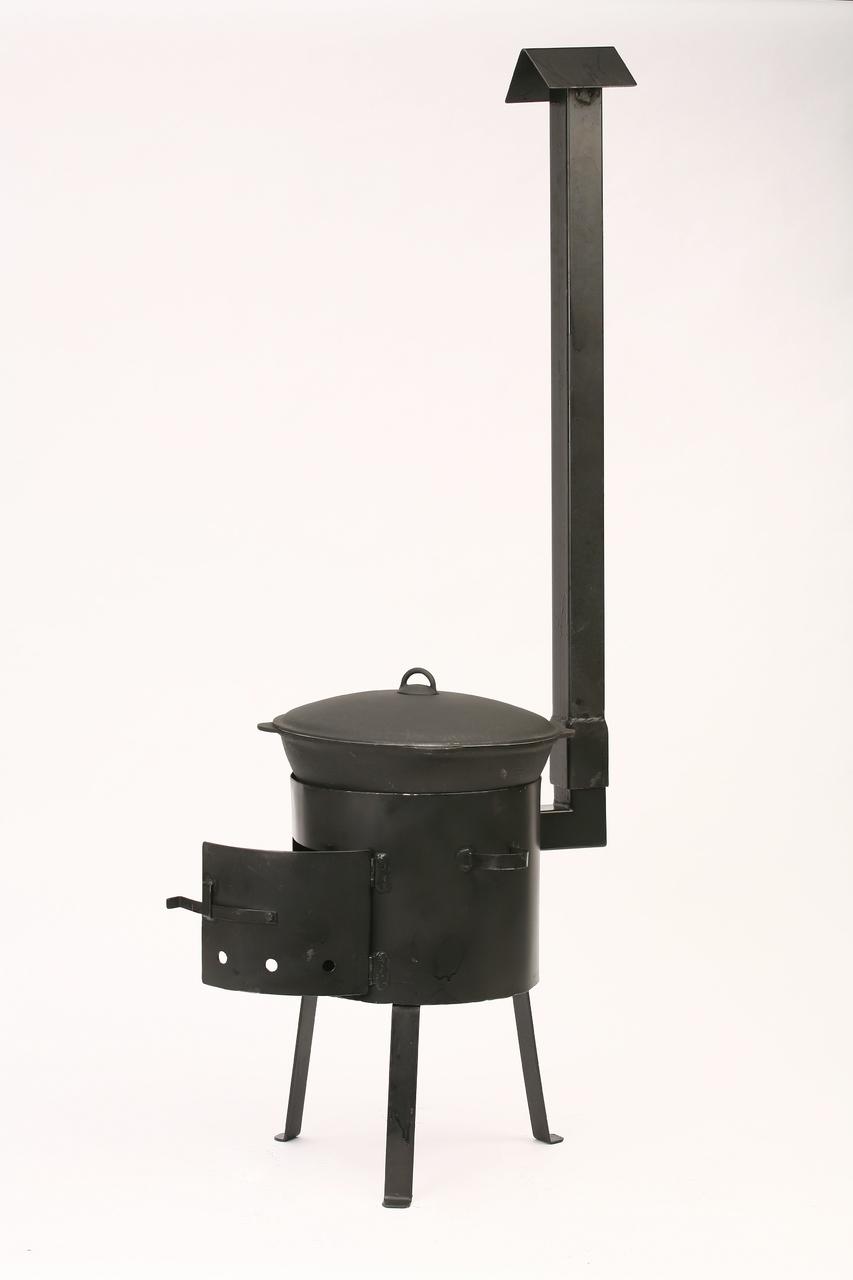 Печка с дымоходом для казана 6 литров