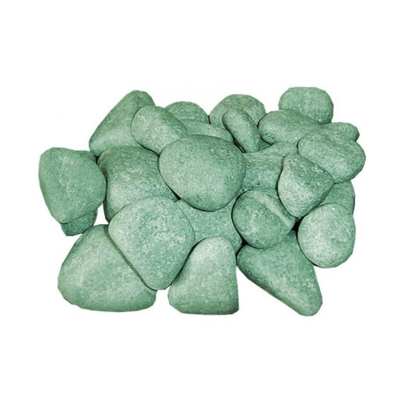 Камень для бани Жадеит мелкая фракция для э/к шлифованный ( 10 кг)