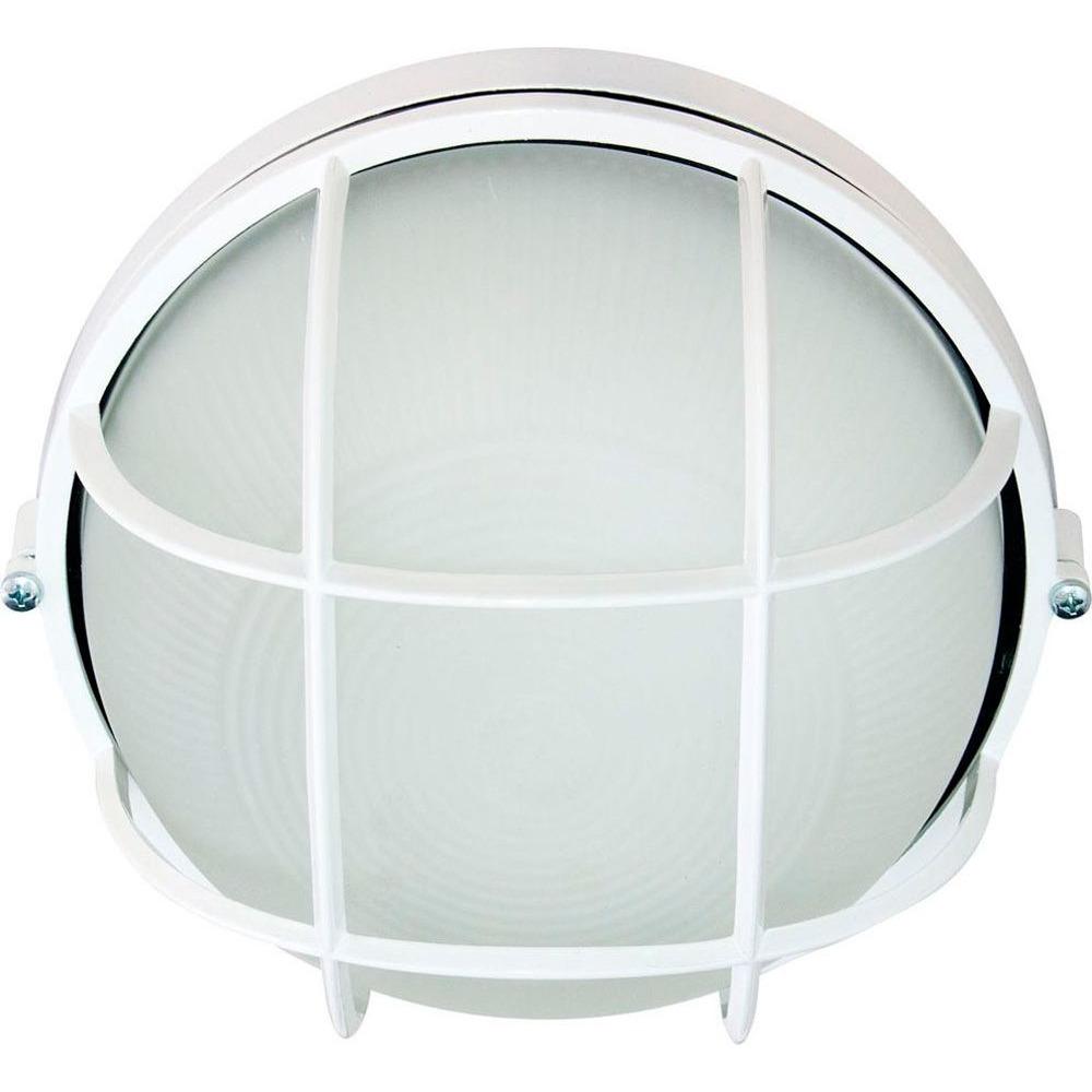 Светильник для бани «Круглый с решёткой»