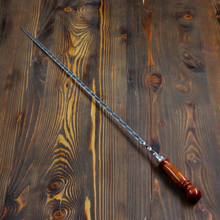 Шампуры деревянная ручка нержавейка 45 см